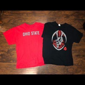Two Ohio State Shirts.